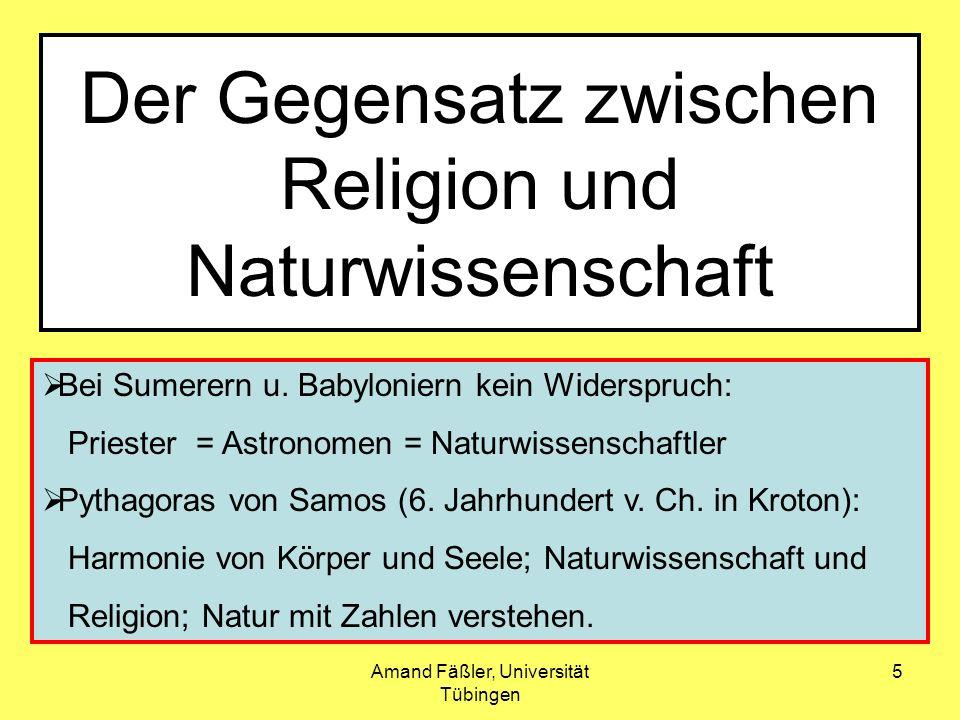 Der Gegensatz zwischen Religion und Naturwissenschaft