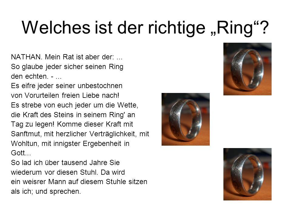 """Welches ist der richtige """"Ring"""