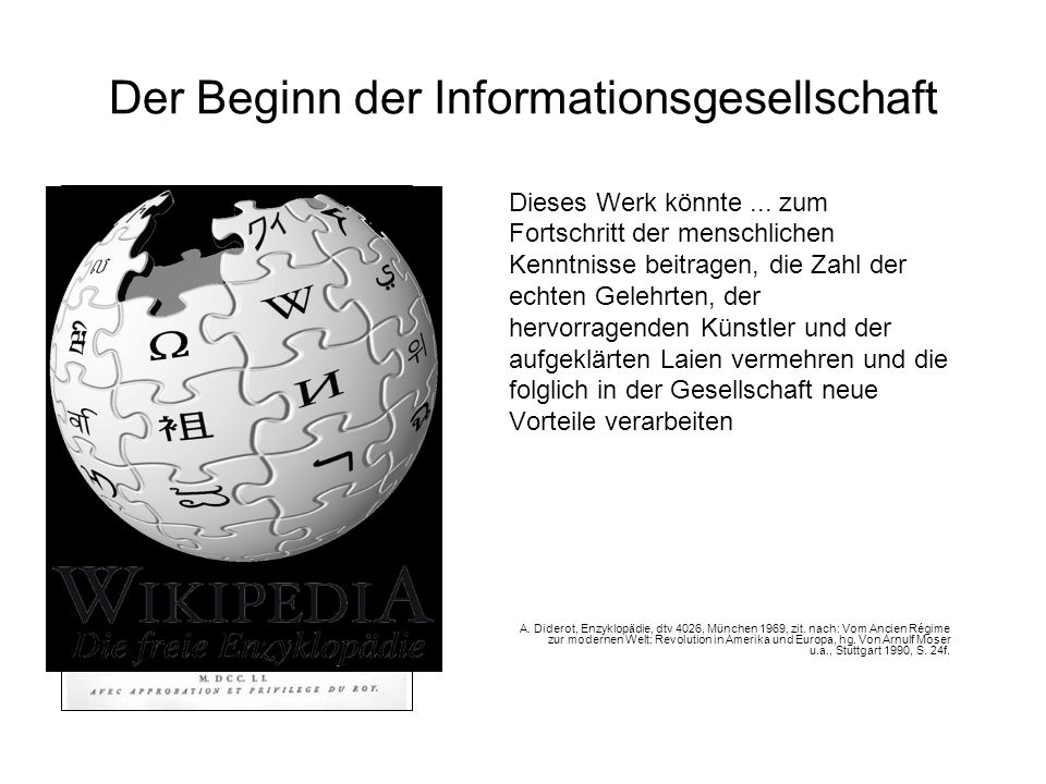 Der Beginn der Informationsgesellschaft
