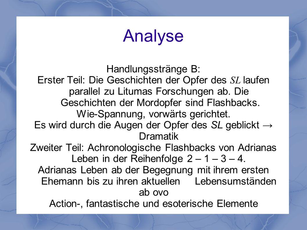 Analyse Handlungsstränge B: