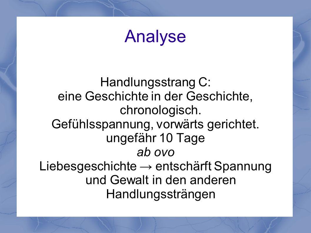 Analyse Handlungsstrang C: