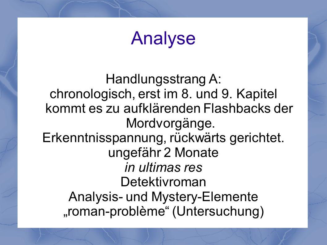 Analyse Handlungsstrang A:
