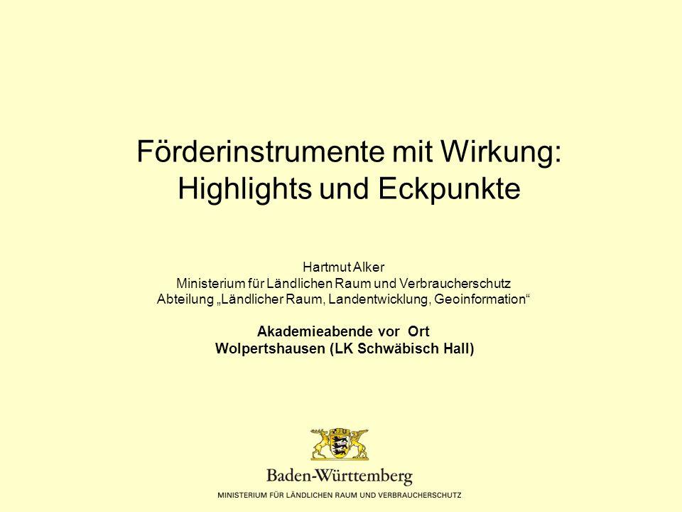 Förderinstrumente mit Wirkung: Highlights und Eckpunkte
