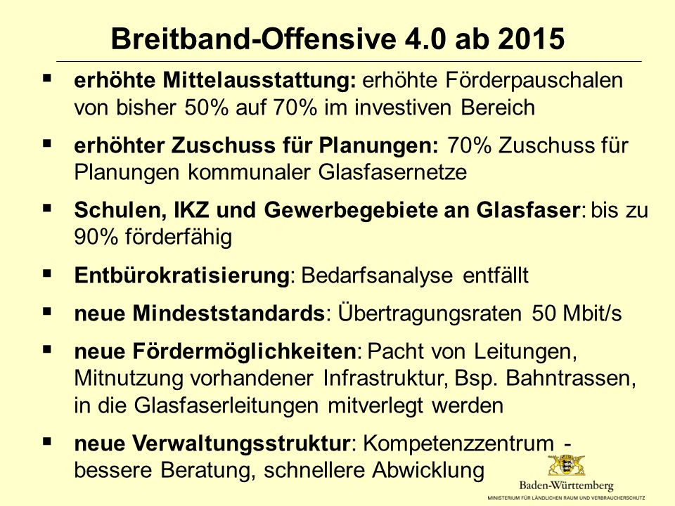 Breitband-Offensive 4.0 ab 2015