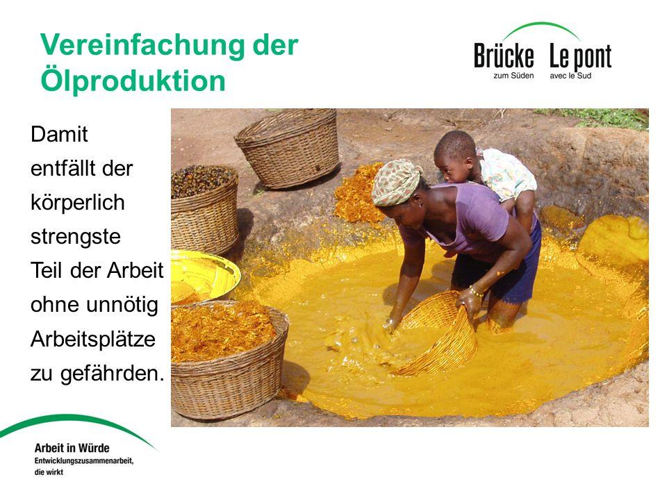 Vereinfachung der Ölproduktion