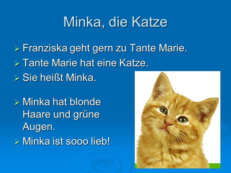 Minka, die Katze Franziska geht gern zu Tante Marie.