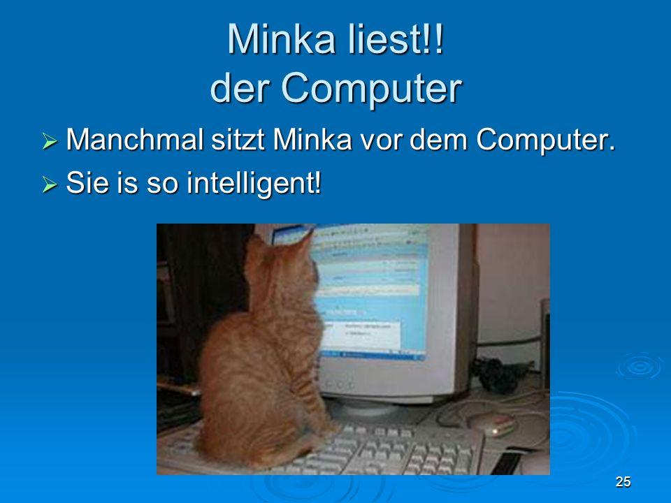 Minka liest!! der Computer