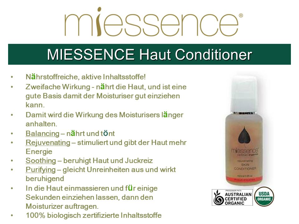 MIESSENCE Haut Conditioner