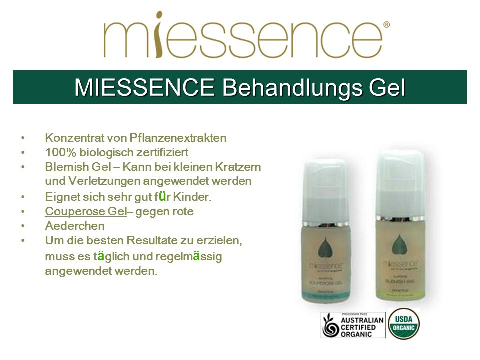MIESSENCE Behandlungs Gel