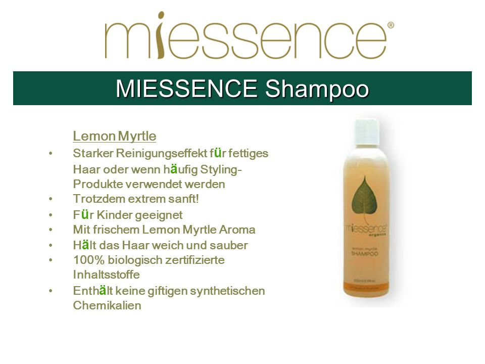 MIESSENCE Shampoo Lemon Myrtle
