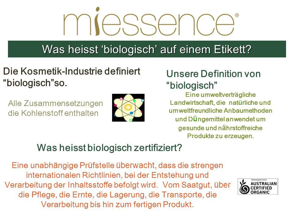Was heisst 'biologisch' auf einem Etikett
