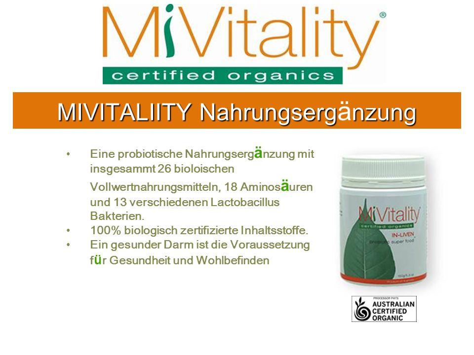 MIVITALIITY Nahrungsergänzung