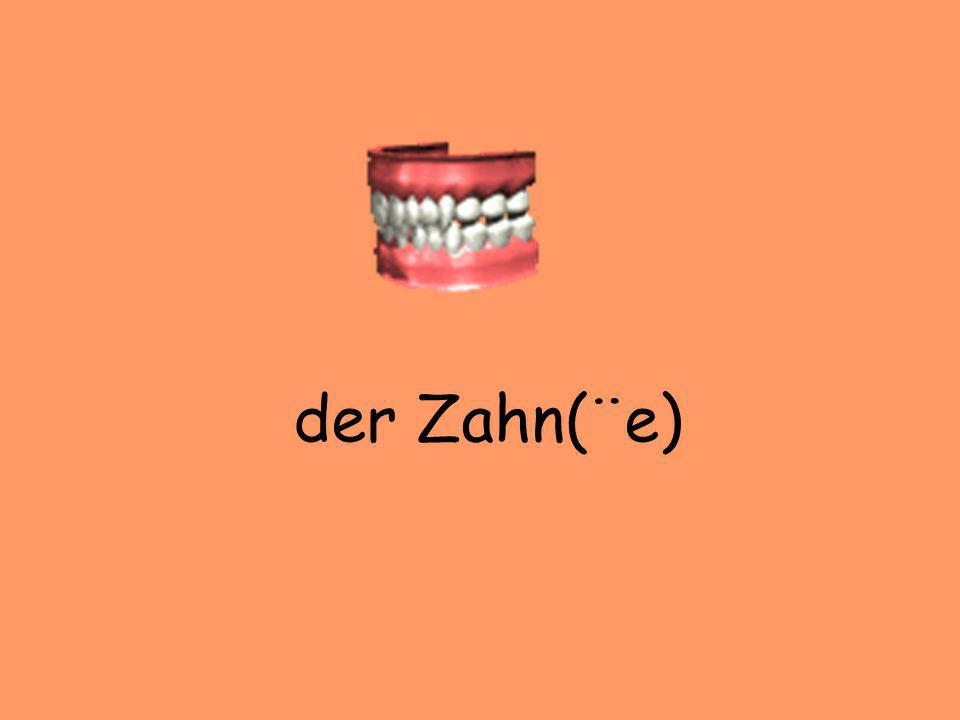 der Zahn(¨e)
