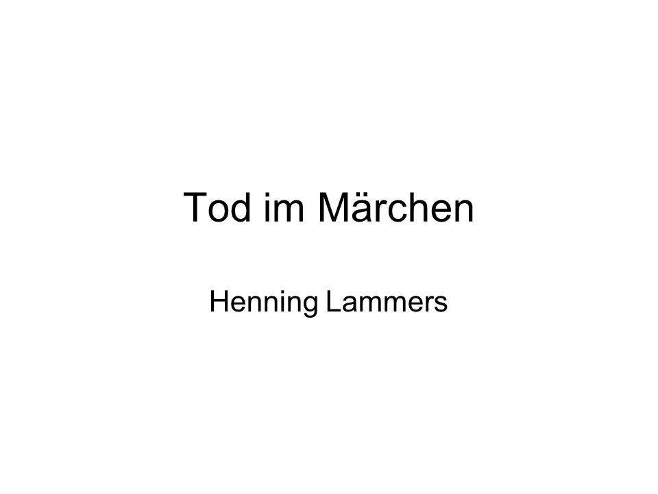 Tod im Märchen Henning Lammers