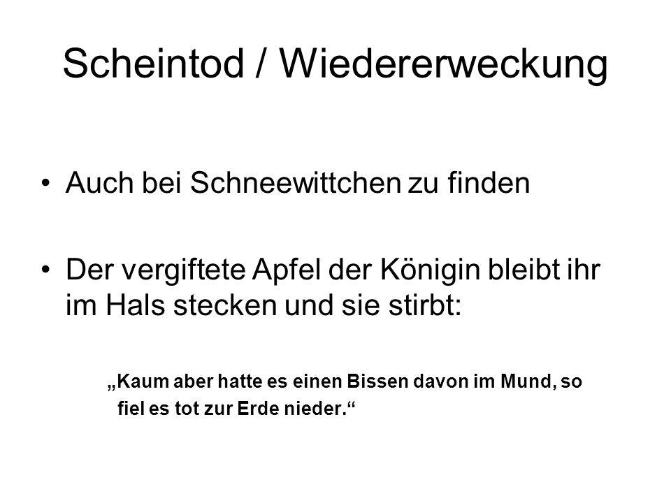 Scheintod / Wiedererweckung