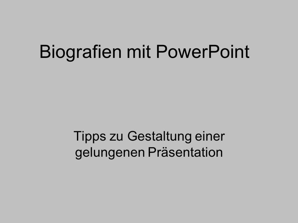 Biografien mit PowerPoint
