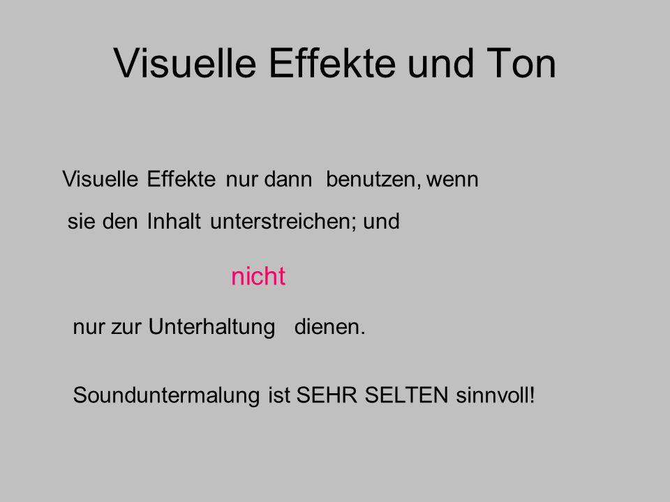 Visuelle Effekte und Ton