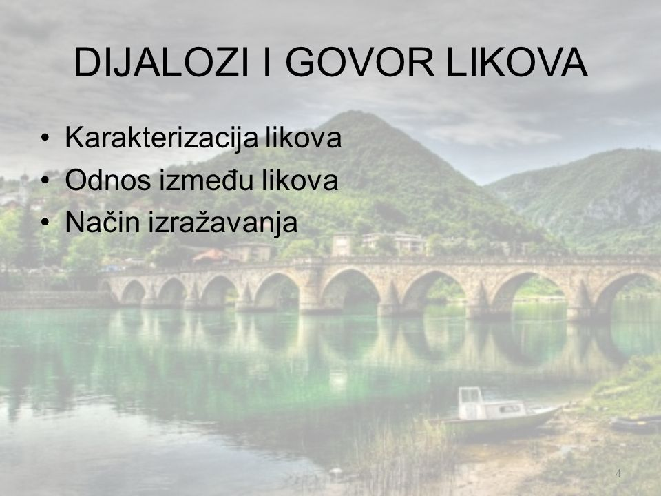 DIJALOZI I GOVOR LIKOVA