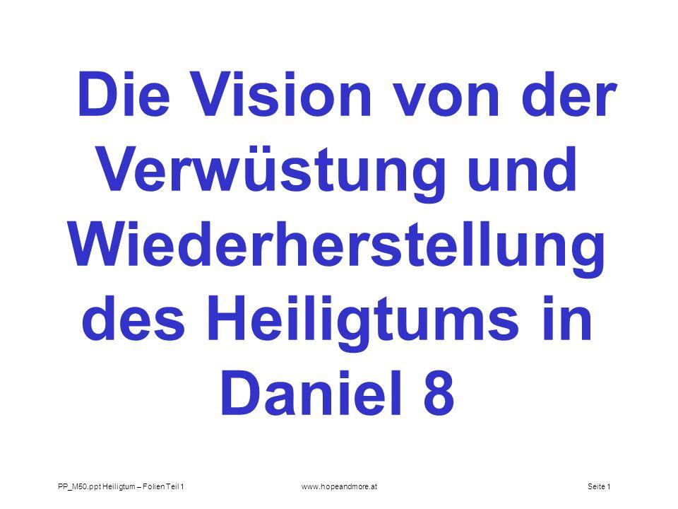 Die Vision von der Verwüstung und Wiederherstellung des Heiligtums in Daniel 8