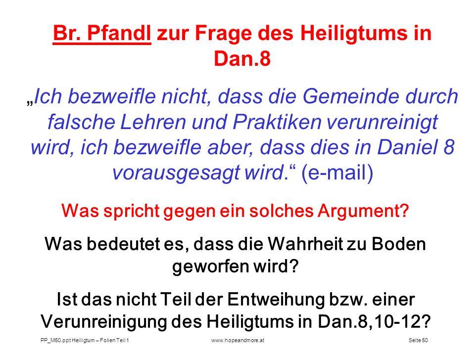 Br. Pfandl zur Frage des Heiligtums in Dan.8