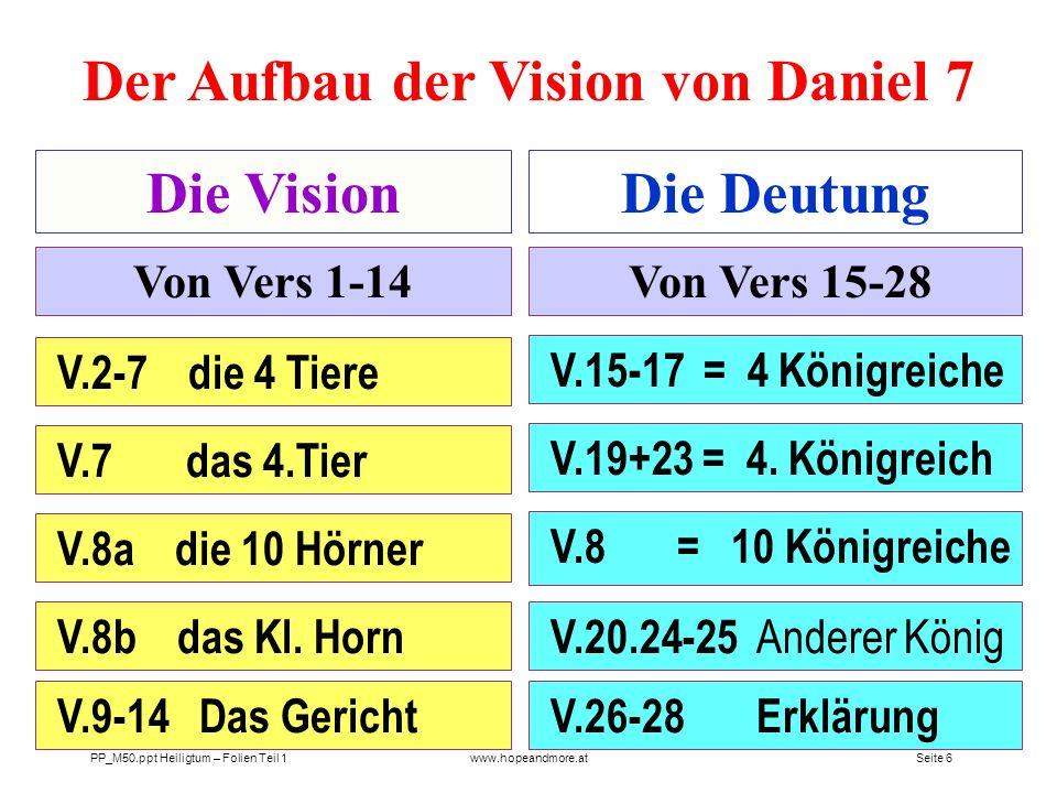 Der Aufbau der Vision von Daniel 7
