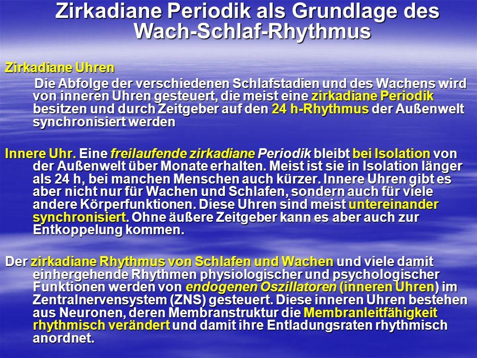 Zirkadiane Periodik als Grundlage des Wach-Schlaf-Rhythmus