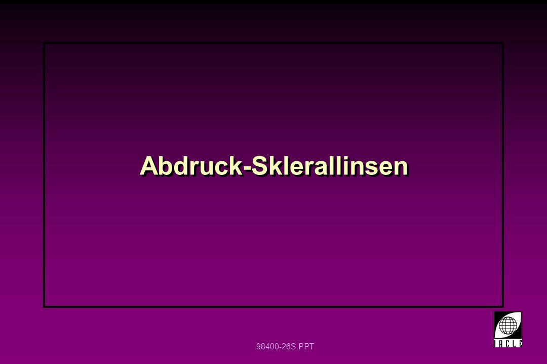 Abdruck-Sklerallinsen