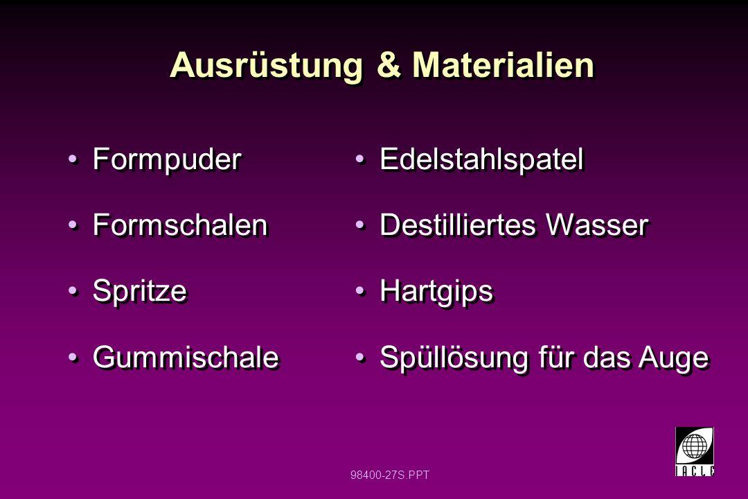 Ausrüstung & Materialien