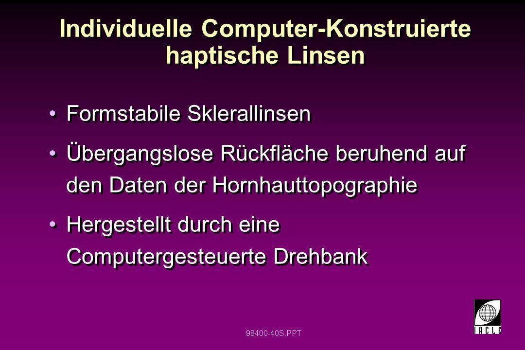 Individuelle Computer-Konstruierte haptische Linsen