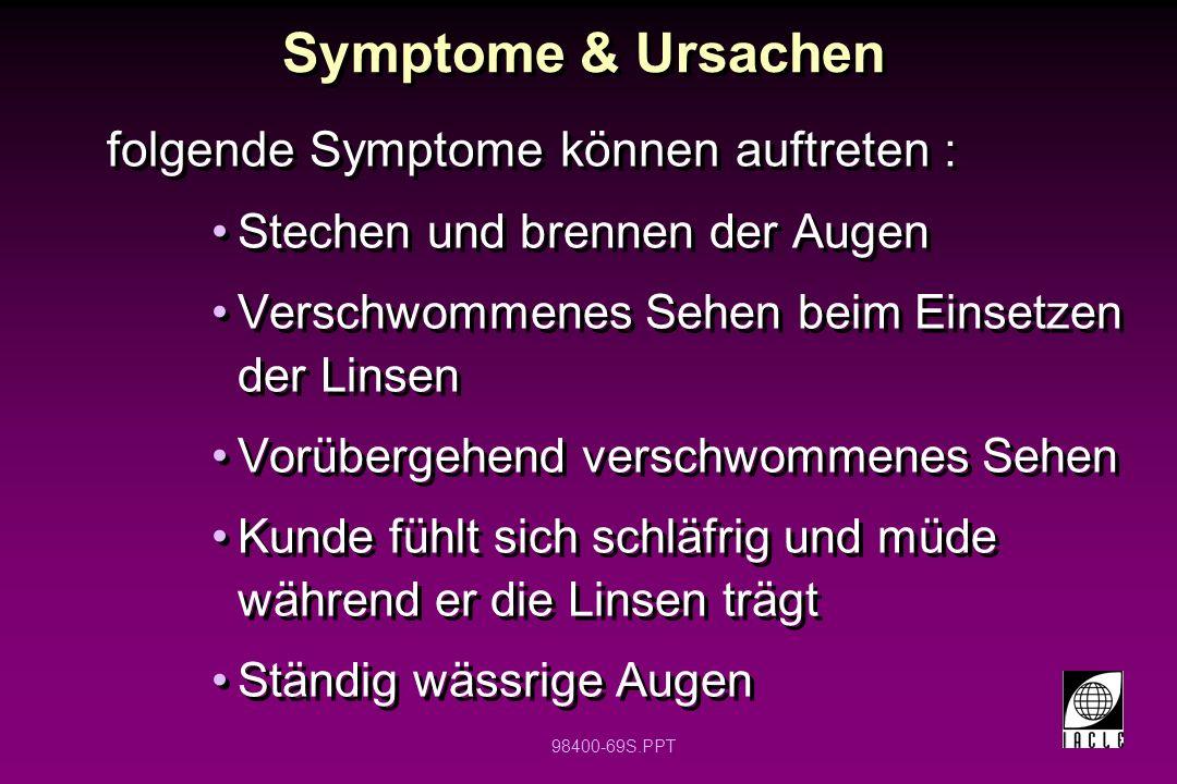 Symptome & Ursachen folgende Symptome können auftreten :