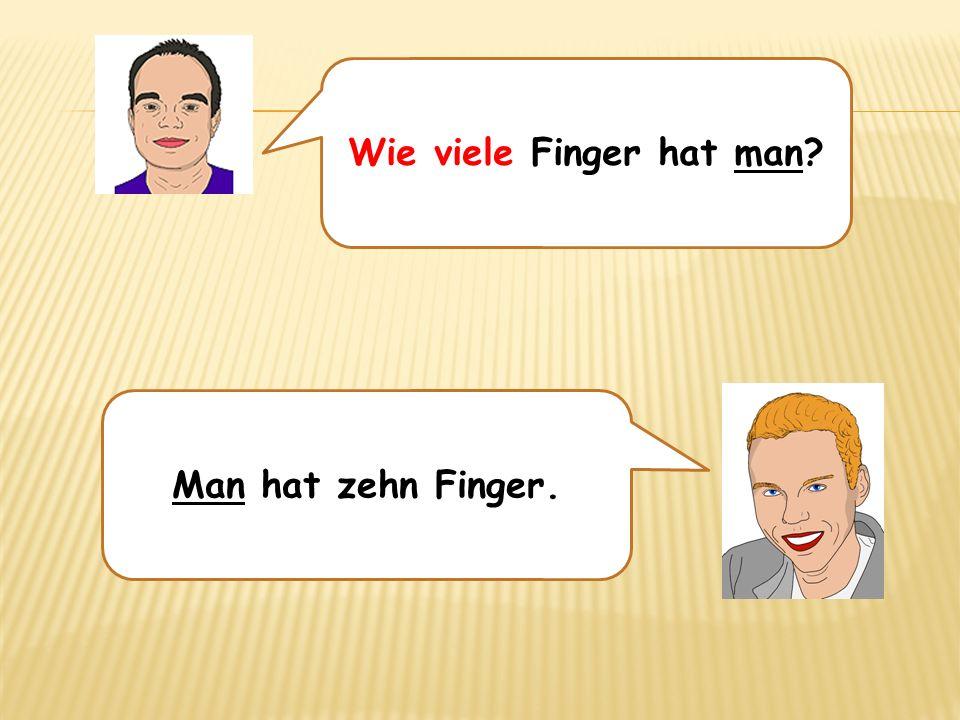 Wie viele Finger hat man