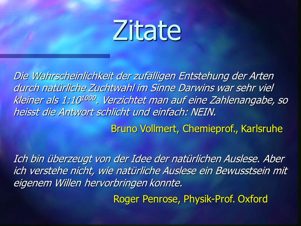Zitate Bruno Vollmert, Chemieprof., Karlsruhe.