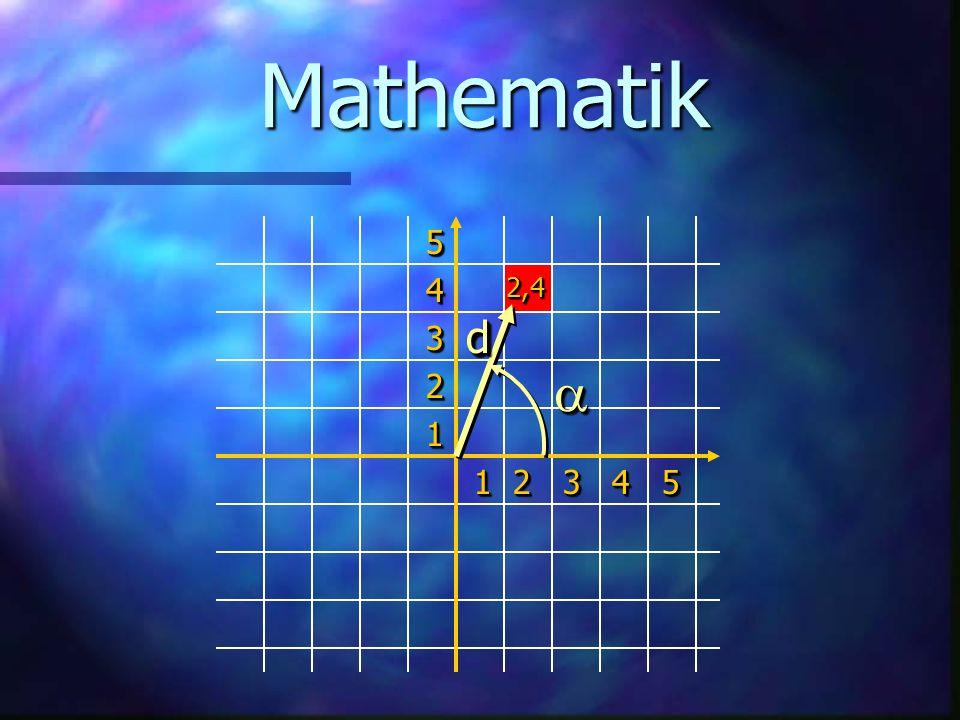 Mathematik 1 2 3 4 5 5 4 3 2 1 2,4 a d