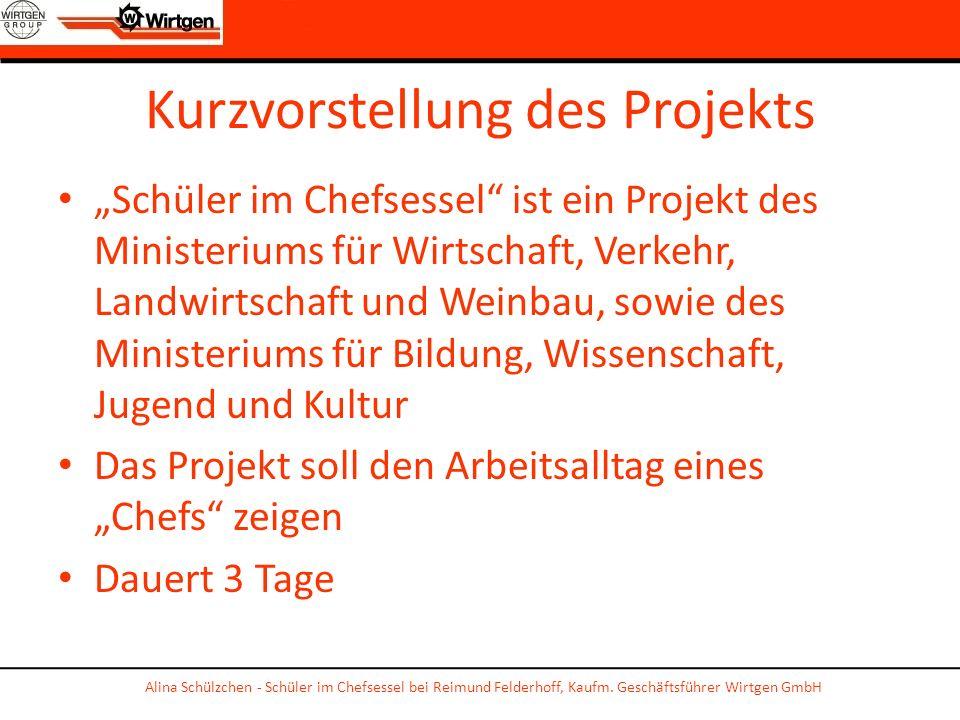 Kurzvorstellung des Projekts