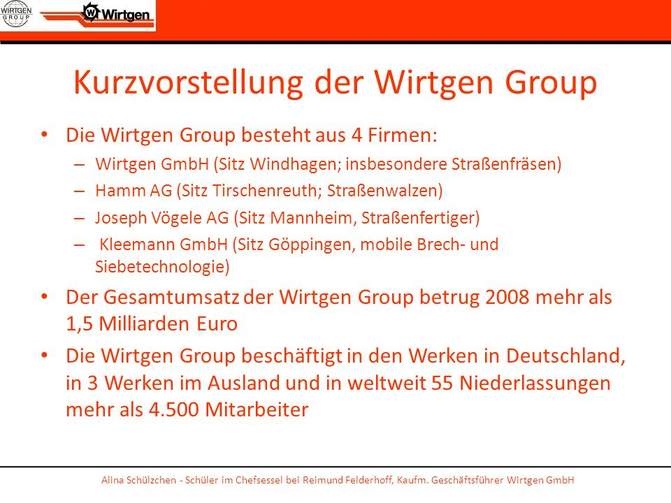 Kurzvorstellung der Wirtgen Group