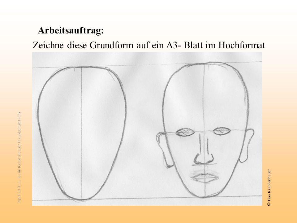 Zeichne diese Grundform auf ein A3- Blatt im Hochformat