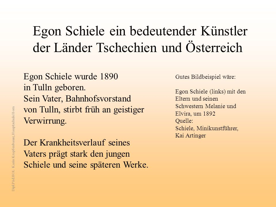 Egon Schiele ein bedeutender Künstler