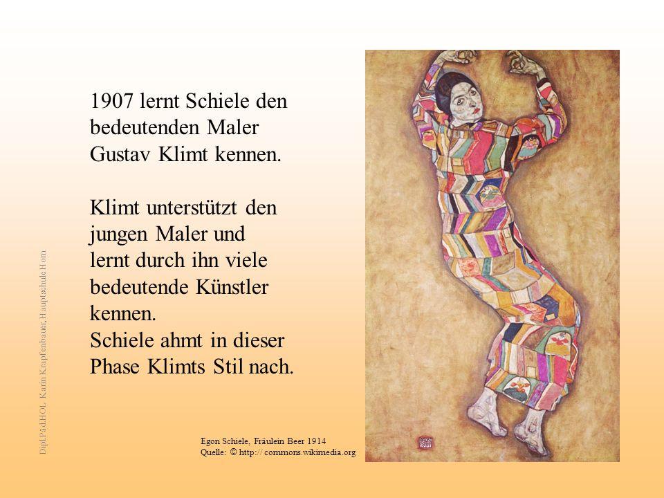 Klimt unterstützt den jungen Maler und