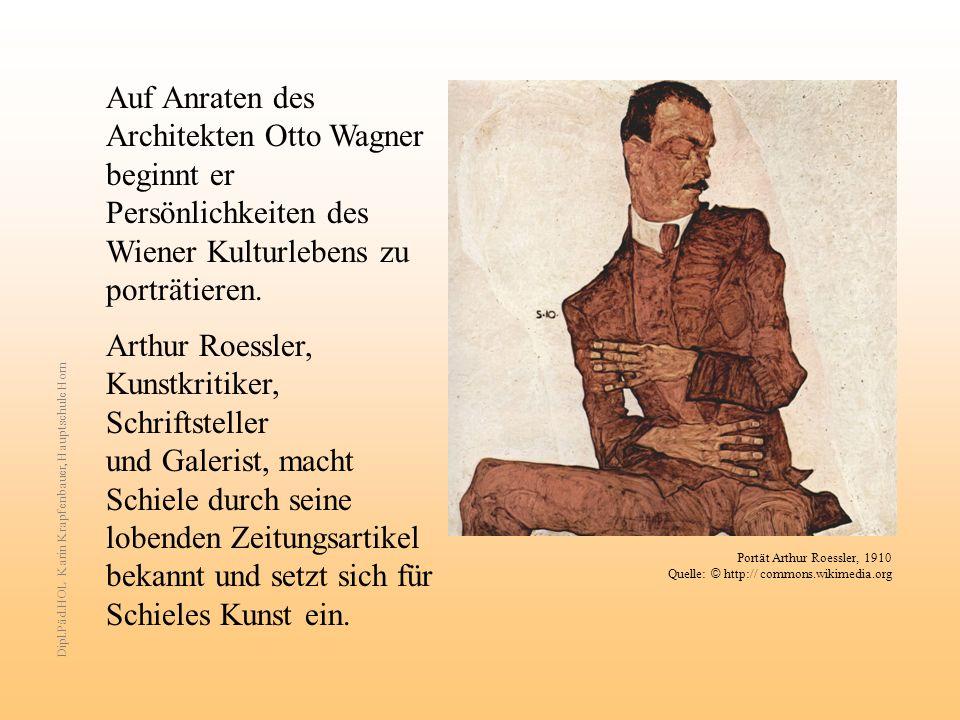 Auf Anraten des Architekten Otto Wagner beginnt er