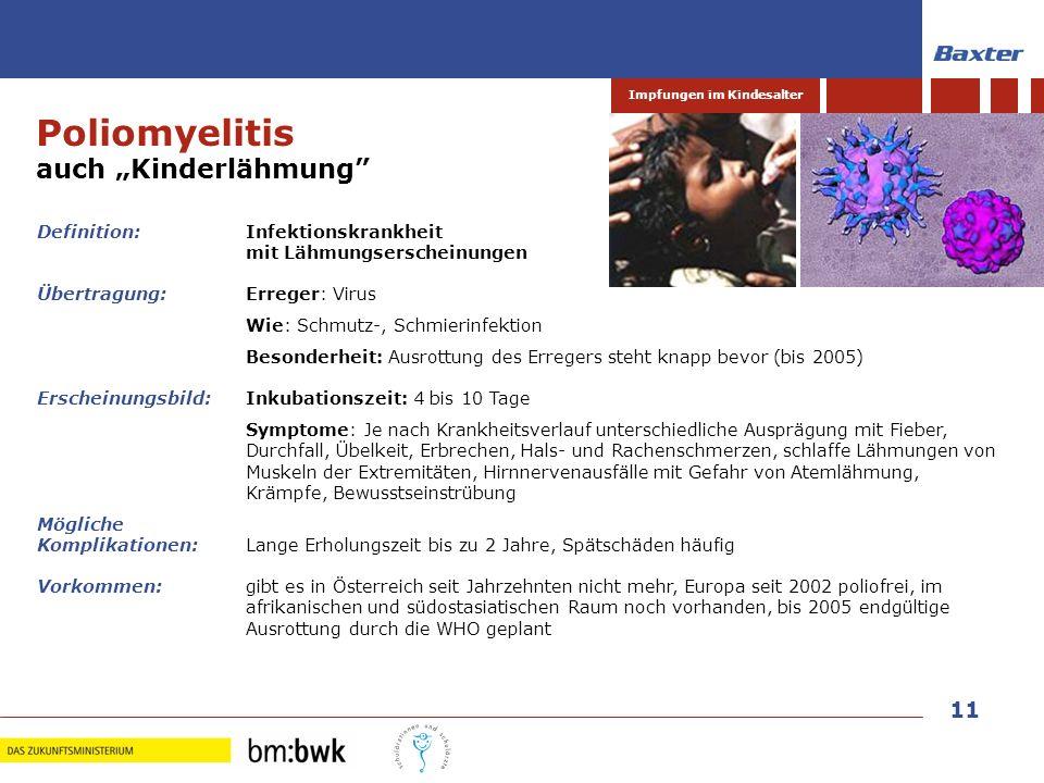 """Poliomyelitis auch """"Kinderlähmung Definition: Infektionskrankheit"""