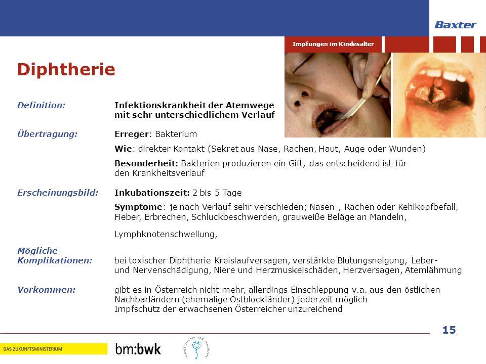 Diphtherie Definition: Infektionskrankheit der Atemwege