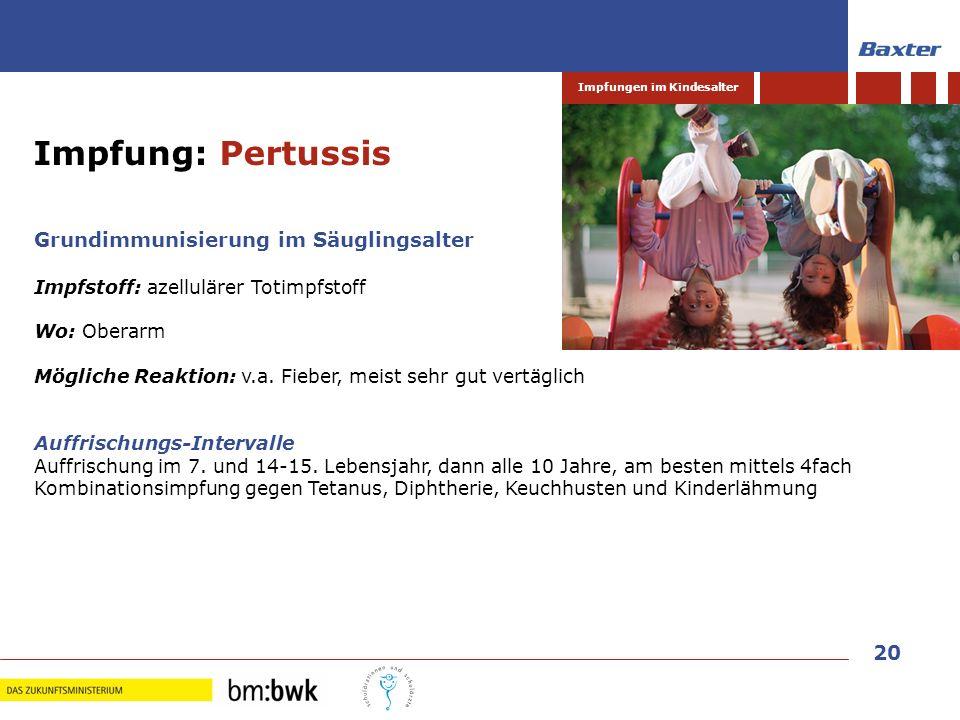 Impfung: Pertussis Grundimmunisierung im Säuglingsalter