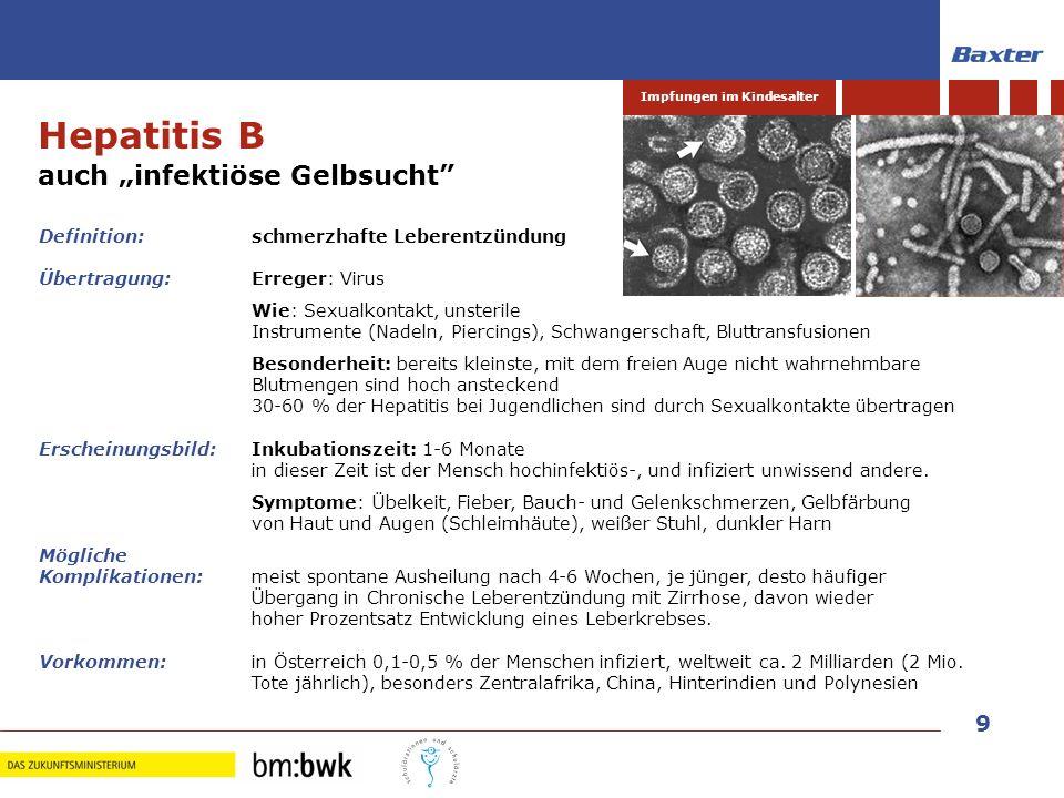"""Hepatitis B auch """"infektiöse Gelbsucht"""