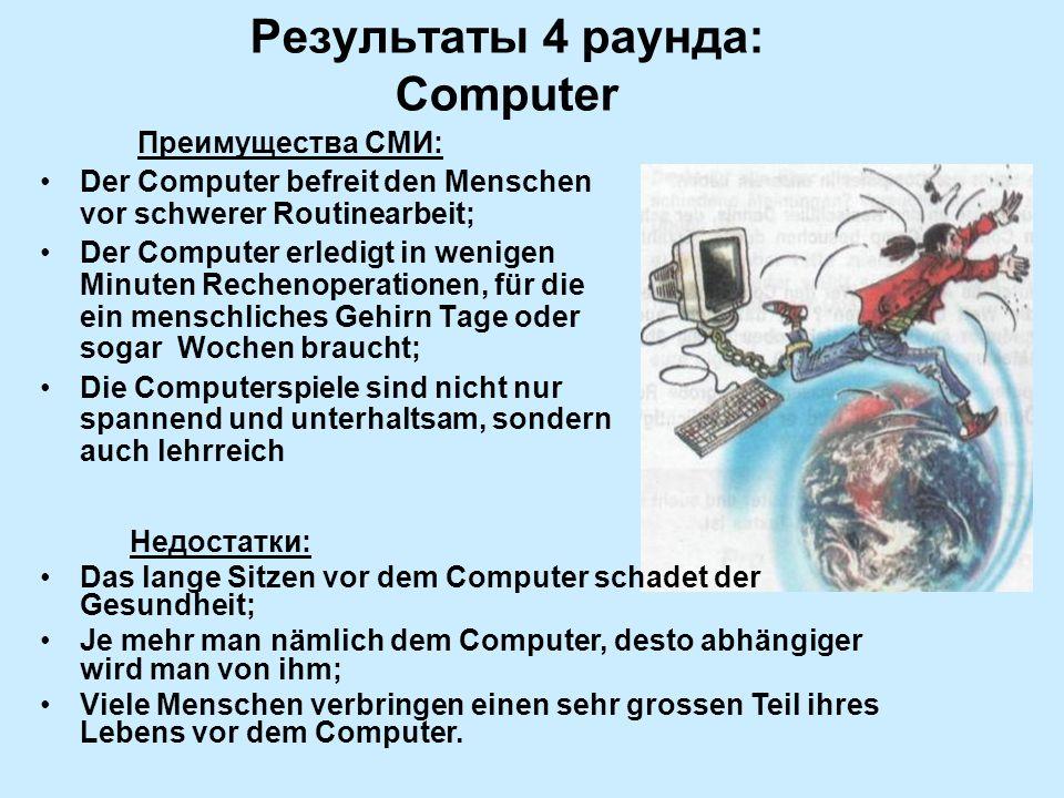 Результаты 4 раунда: Computer