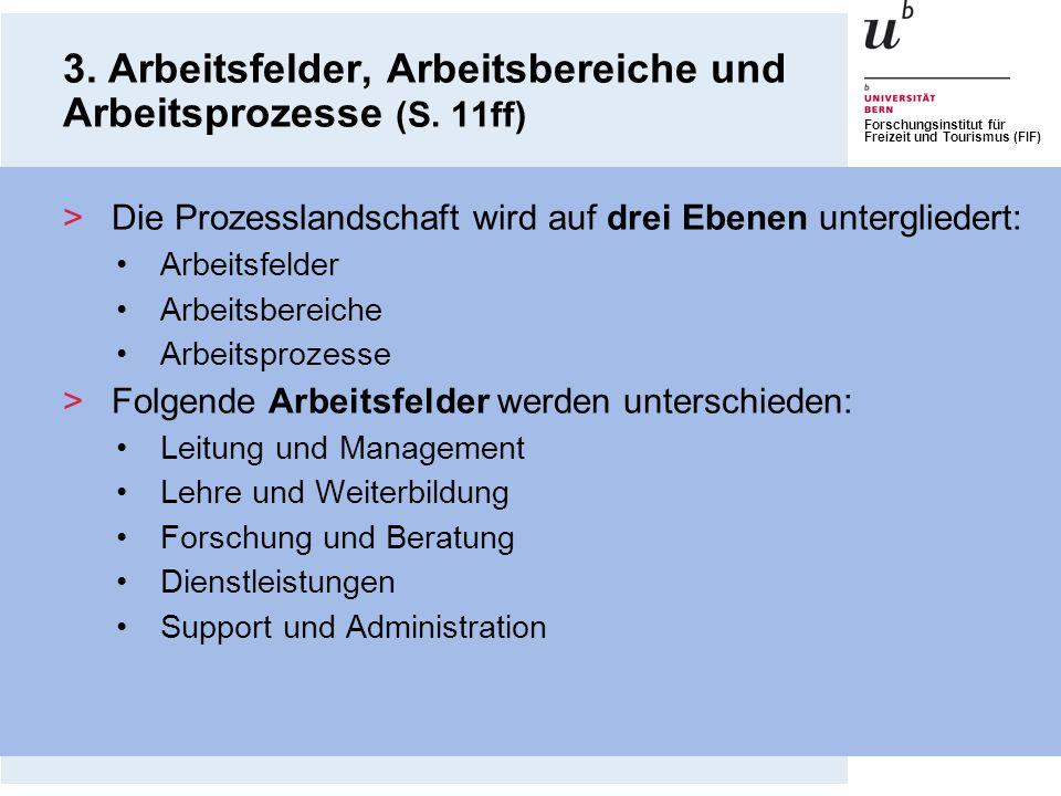 3. Arbeitsfelder, Arbeitsbereiche und Arbeitsprozesse (S. 11ff)