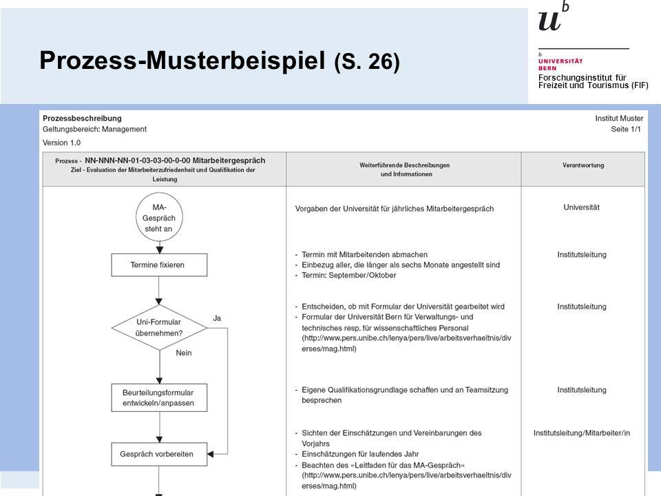 Prozess-Musterbeispiel (S. 26)