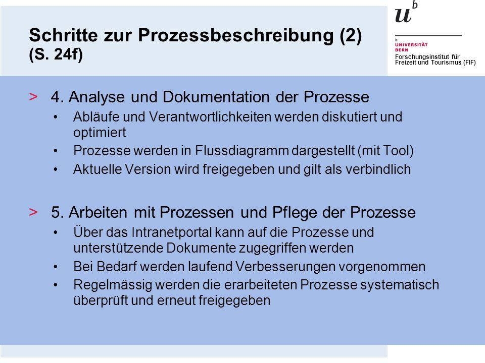 Schritte zur Prozessbeschreibung (2) (S. 24f)