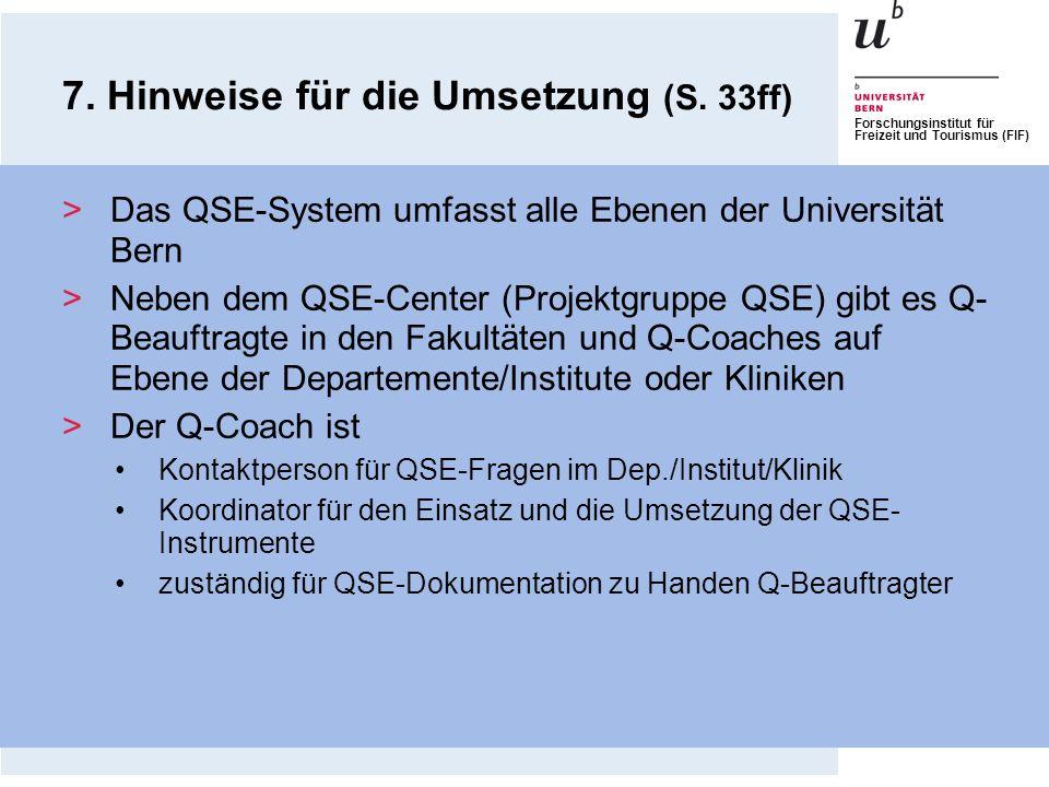 7. Hinweise für die Umsetzung (S. 33ff)