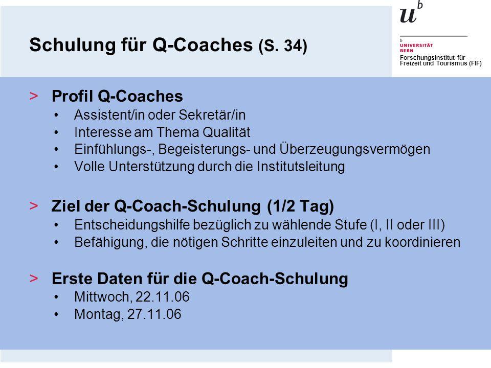 Schulung für Q-Coaches (S. 34)