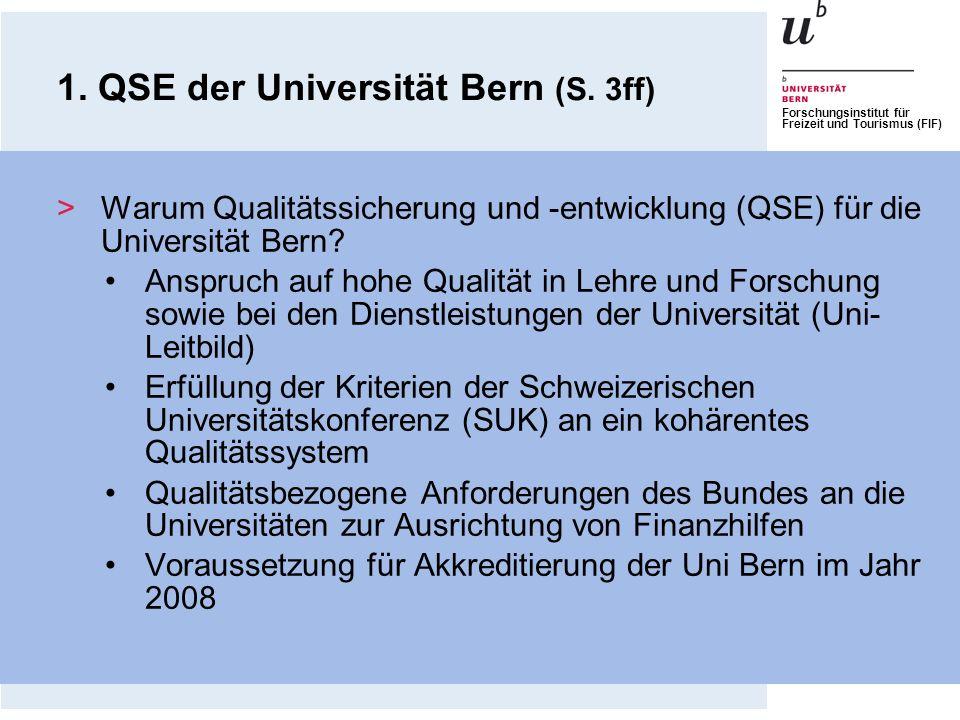 1. QSE der Universität Bern (S. 3ff)